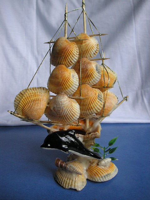 Кораблики из ракушек своими руками 122